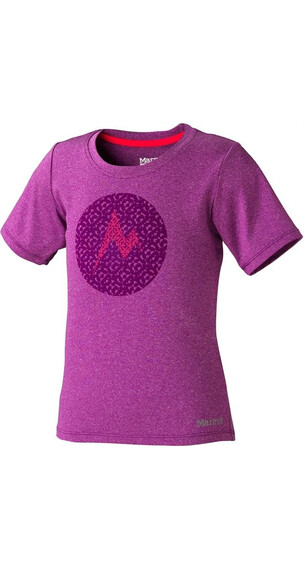 Marmot Girl's Post Time Tee SS Beet Purple Heather